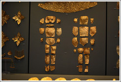 Gold coverings for baby corpse.  National Archaeological Museum.