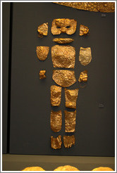 Gold covering for baby corpse.  National Archaeological Museum.