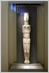 Cycladic idol of a woman from 2800-2300 BC.  National Archaeological Museum.