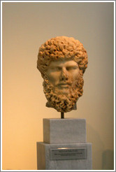 Figure of emperor Lucius Verus.  161-169 AD.  National Archaeological Museum.