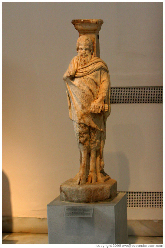 Statue of Pan.  2nd century AD copy of 4th century BC work.  National Archaeological Museum.
