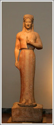 Statue of Phrasikleia from 550-540 BC.  National Archaeological Museum.