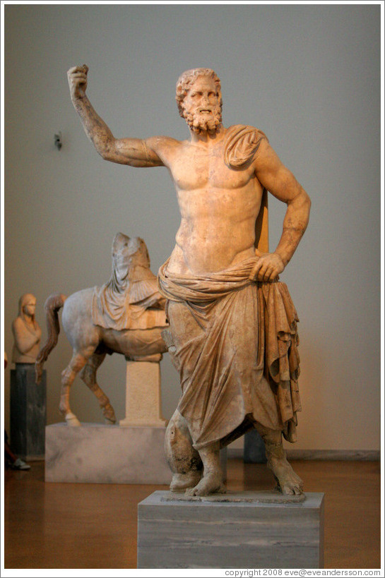 Statue of Poseidon from 125-100 BC.  National Archaeological Museum.