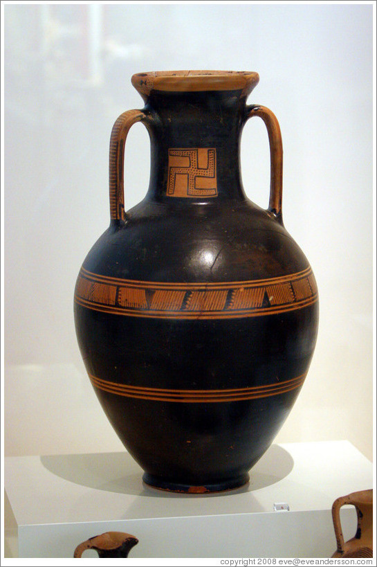 Vase from Thissio, created around 875-800 BC, discovered in 1878.  National Archaeological Museum.
