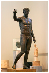 Statue of the Youth of Antikythera from about 340 BC.  National Archaeological Museum.