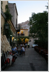 Plaka (Πλάκα), an old neighborhood in Athens.