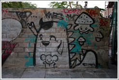 Graffiti in Plaka (Πλάκα), an old neighborhood in Athens.