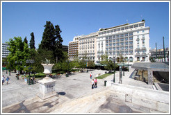 Syntagma (Σύνταγμα) Square, with Hotel Grande Bretagne in the background.