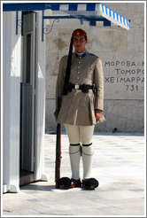 Presidential Guard at the Greek parliament building at Syntagma (Σύνταγμα) Square.