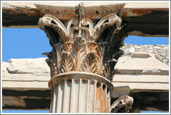 Column detail.  Temple of Olympian Zeus (Ολυμπίου Διός).