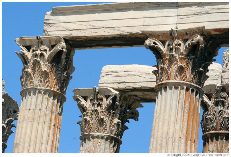 Columns. Temple of Olympian Zeus (Ολυμπίου Διός). (Photo ...