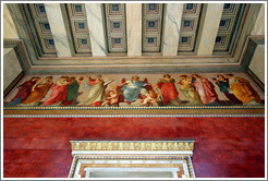 Mural depicting the sciences.  University of Athens.