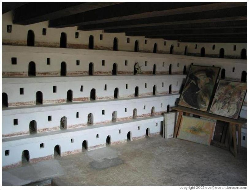 Carrier pigeon room at Casa Popenoe.