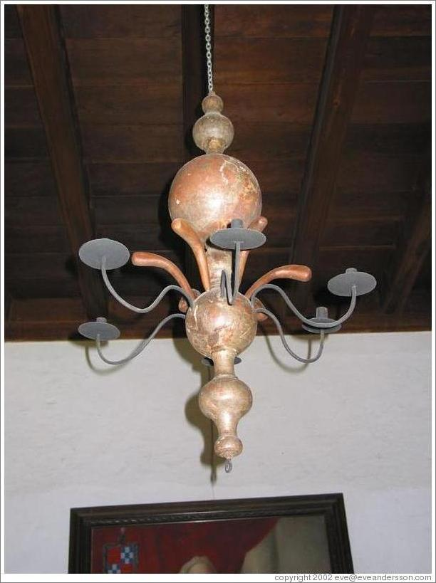 Light fixture at Casa Popenoe.
