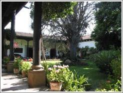 Courtyard at Casa Popenoe.