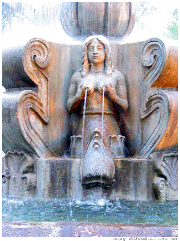 Parque Central.  Fountain detail.