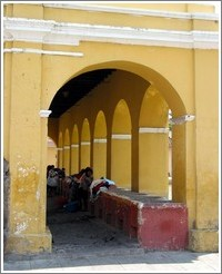Antigua, Guatemala.  Women washing clothes.