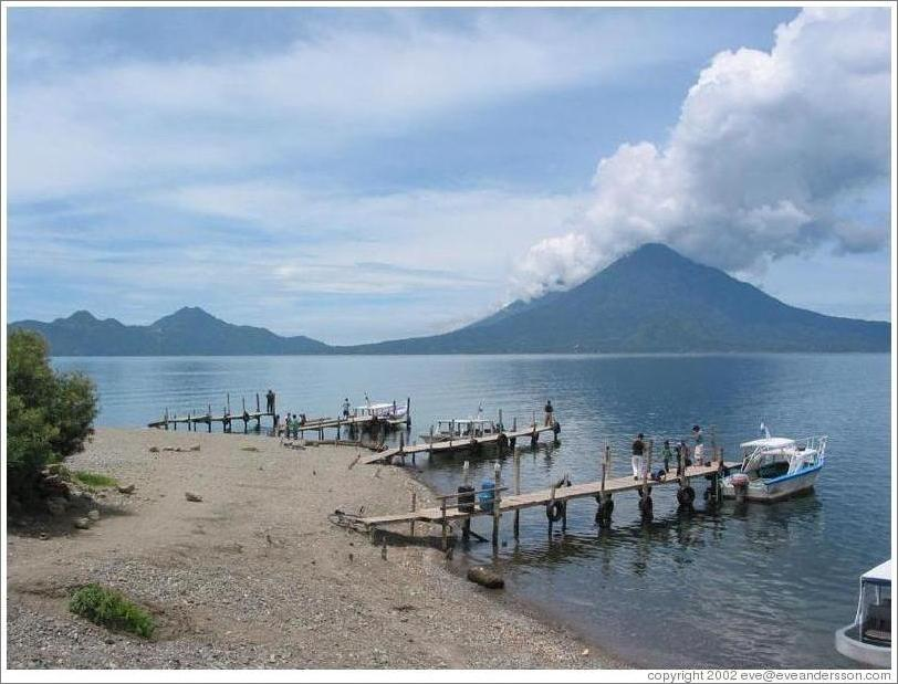 Four docks in Lake Atitlan.