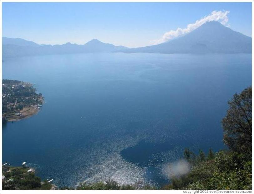 View of Lake Atitlan from above.