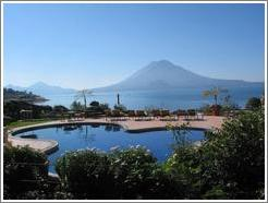 Pool and view from Hotel Atitlan, Panajachel.