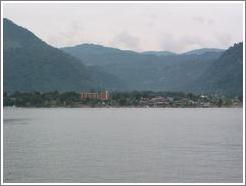 Panajachel, viewed from Lago de Atitlán.