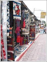 Typical wares for sale, Panajachel.