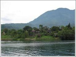 Building set in lush greenery, Lago de Atitlán.