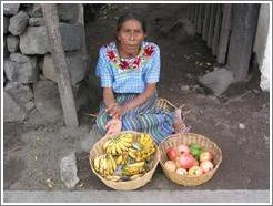 Woman selling fruit, Santiago.