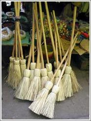 Brooms for sale.