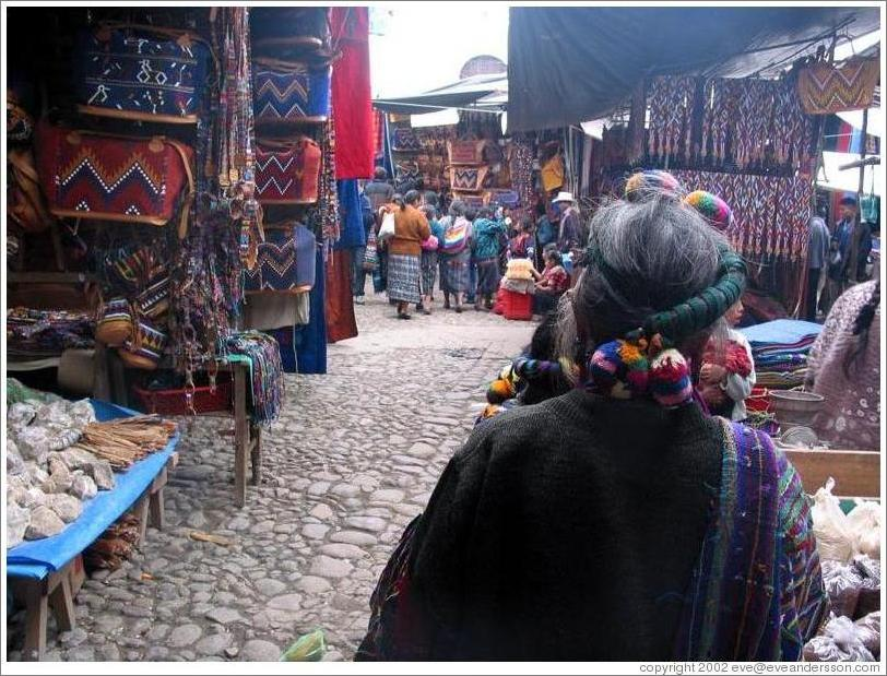 Hair decoration, at the market.