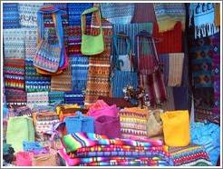 Textiles at the market.