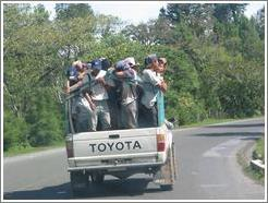Truck full of boys, Coban area.
