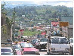 Coban: bustling city and idyllic hills.