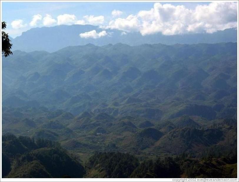 Egg Carton Mountains, near Lanquín.