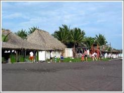 Volleyball at Monterrico beach.