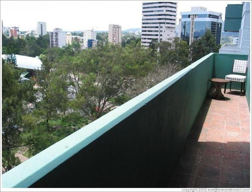 My (former) apartment in Guatemala City.  Balcony.