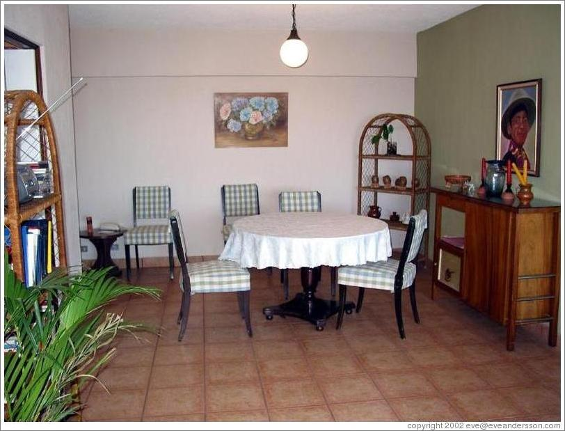 My (former) apartment in Guatemala City.  Dining room.