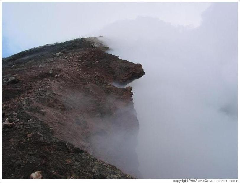 Sulphuric smoke coming from the crater of Volcan Pacaya.