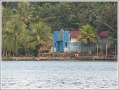 Church for residents of Rio Dulce, reachable by water.