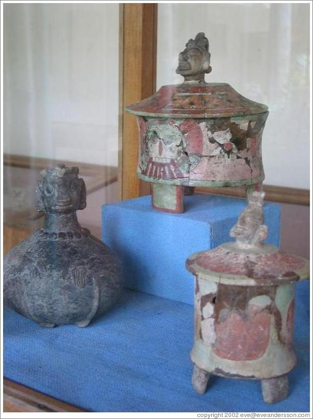 Tikal.  Classical period pottery at the Ceramics Museum.
