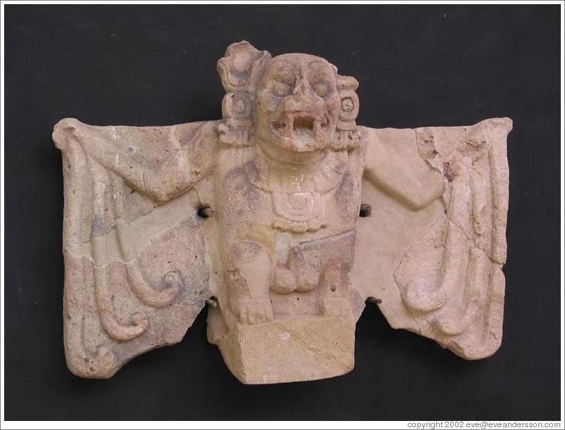 Museum. Camazotz (a bat god in Maya mythology).