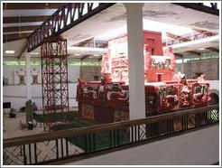 The museum is spacious, covering two floors, with the model of the Rosalina Temple extending to the full height.