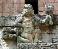 Acropolis detail, West Plaza, Copan, close-up