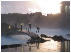 Blue Lagoon, an incredible geothermal spring, at dusk.