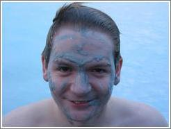 The silica mud found naturally at Iceland's Blue Lagoon is said to gently exfoliate the skin.