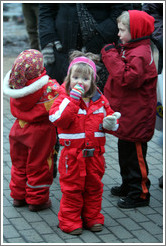 Children in red.