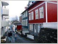 Houses in old town Reykjavik.
