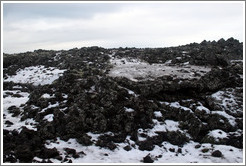 Snow-covered volcanic terrain.