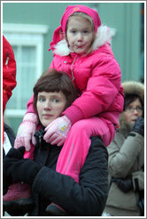 Icelandic woman and daughter.