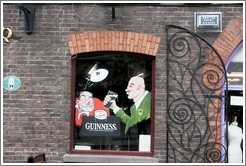 Guiness painting on pub in Temple Bar.